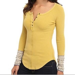 Free People Alpine Thermal chartreuse large